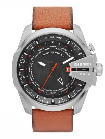DIESEL MEGA CHIEF World Time GMT Quarzuhr DZ4321 – Bild 1